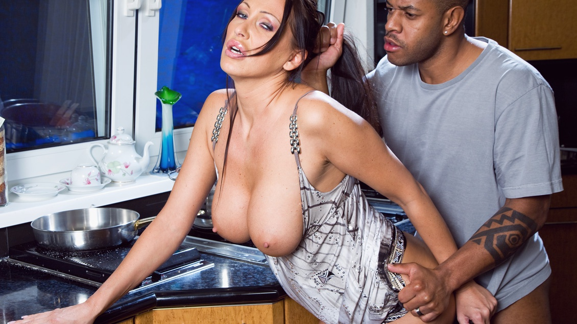 Busty MILF Has a Xmass Ride in the Kitchen