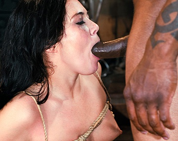 Private  porn video: Ashley Blue Is Tied up in an Interracial Anal BDSM Scene