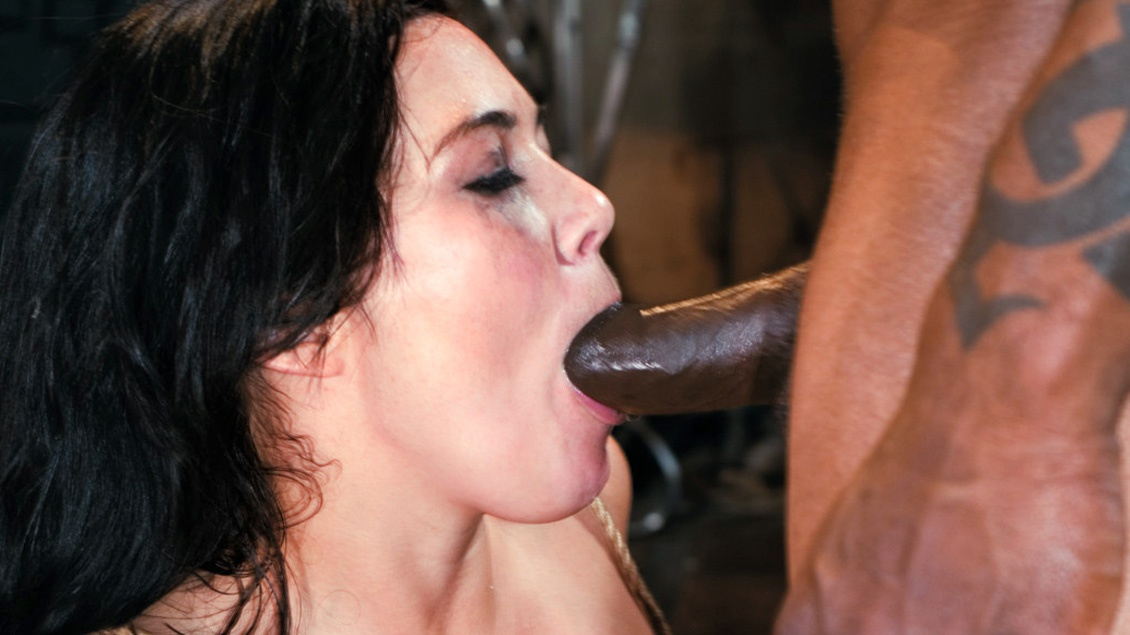 Ashley Blue Is Tied up in an Interracial Anal BDSM Scene