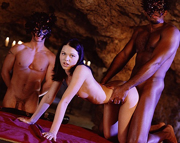 Private  porn video: Cristina Bella Rides a Big Black Cock in a Cave