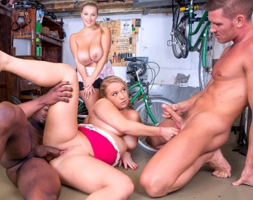Private HD porn video: Curvy Babes Enjoy Interracial Orgy