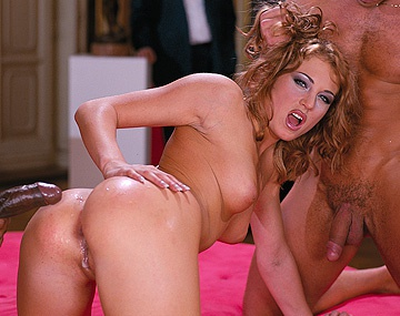 Private  porn video: Lynn Stone in an Anal Interracial Threesome