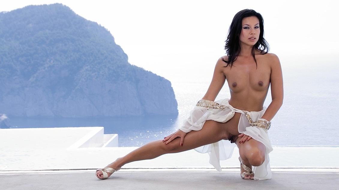 Vanessa May, Interracial DP Threesome in Ibiza