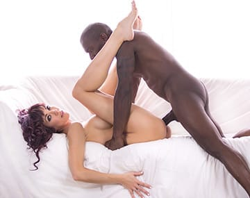 Private HD porn video: Saucy Brunette Tries Interracial