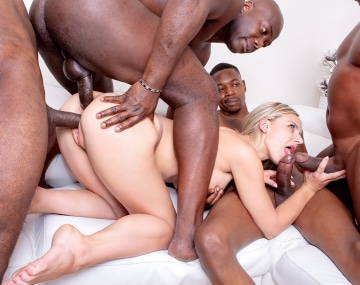Private HD porn video: Explosive Blonde Nathaly Cherie wants an interracial gangbang