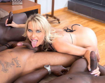 Private HD porn video: MILF Julia Pink Enjoys DP in her First Interracial Gangbang