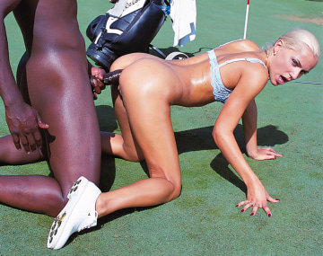 Private  porn video: Sylvia Sun Enjoys Anal with a Big Black Cock in a Golf Court