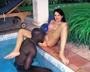 Private  porn video: Sandra Kay Gets Anal Interracial Sex in the Garden