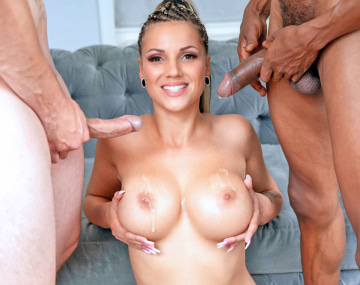 Private HD porn video: Two Cocks for Jolee Love