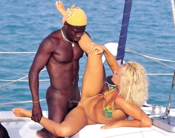 Private  porn video: Kyra and Sheena Pearl, Interracial Orgy in the Boat